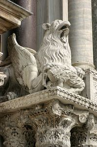 Statue of a griffin - Venice