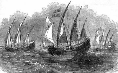 Columbus' ships
