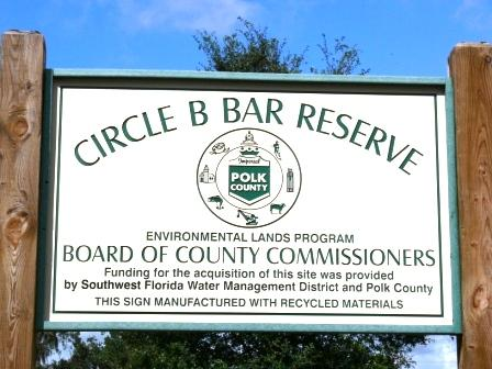 Circle B Bar Reserve Sign