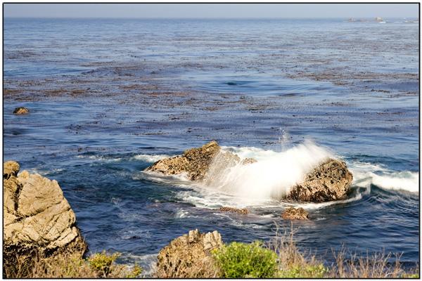 Water Splashing on Rocks - Point Lobos State Reserve by Daves BP