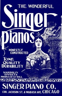 Singer Pianos Ad