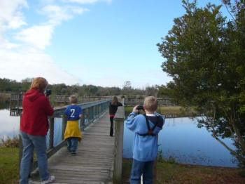 Homeschoolers at South Lake Howard Field Trip by Lee