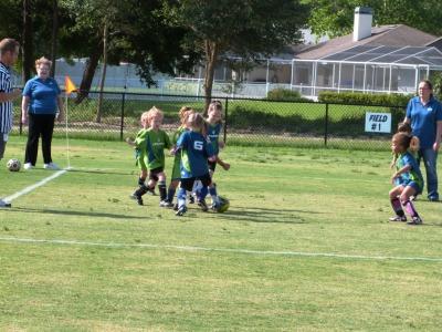 Upward Soccer 4-5 yr olds Girls
