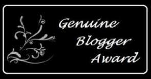 Genuine Blogger Award