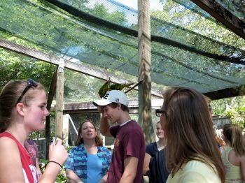 Homeschoolers at Lowry Park Zoo