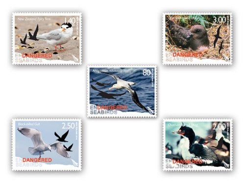 Antipodean Albatross (Diomedea antipodensis) Stamp by Ian