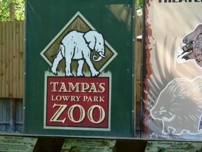 Lowry Park Zoo Sign by Lee