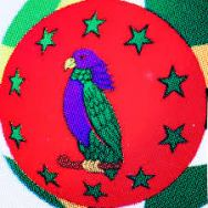 Sisserou Parrot Insert (Amazonaon Dominic )Flag ©Flickr-