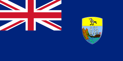 Flag of Saint Helena with Saint Henea Plover ©PD