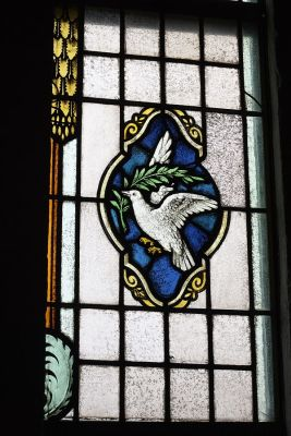 White Dove With Olive Branch - Stained Glass ©WikiC