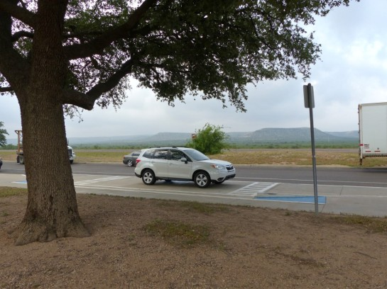Our Faithful Vehicle At Reststop TX