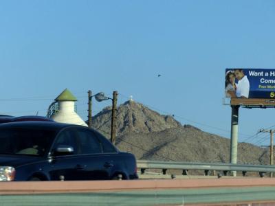 Cross on a mountain - El Paso, Texas