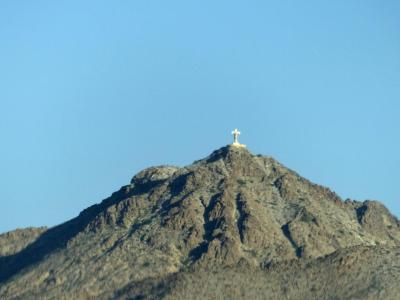 Cross on a mountain - El Paso, Texas