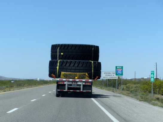 Truck with Hugh Tires NM