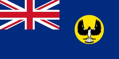 Flag that bird - Flag of Western Australia - Magpie