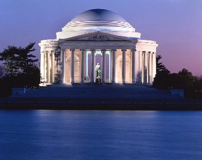 Jefferson Memorial at Dusk - ©©Fact Monster