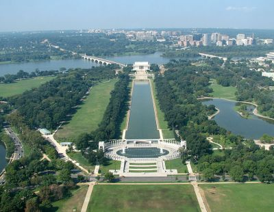 The Reflecting Pool from the Washington Monument from window ©WikiC