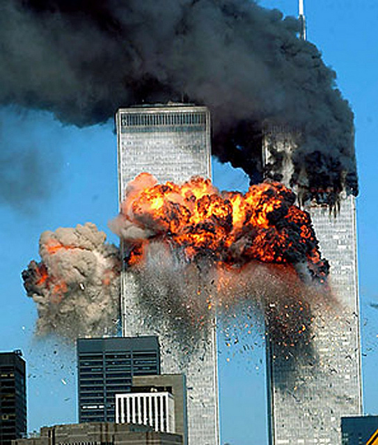 Twin Towers As Second Plane Hit
