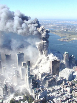 Twin Tower as it Collapsed