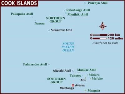 Cooks Island Map