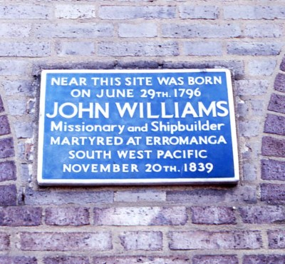 The missionary efforts of John Williams