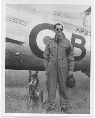 "WWII pilot Václav ""Robert"" Bozdĕch --- and his faithful dog, Antis"