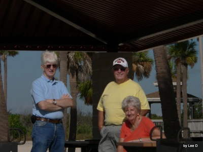 Dan, Jim and Phyllis at MacDill AFB Shore