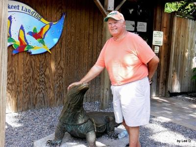 Jim with Komono Dragon at Lowry Park Zoo