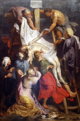 Jesus being taken down from the cross - La_descente_de_croix_Rubens