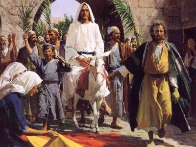 Jesus Riding on a Donkey Colt