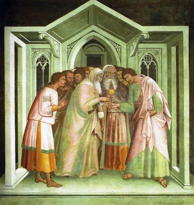 Judas sells Jesus for thirty pieces of silver ©WikiC