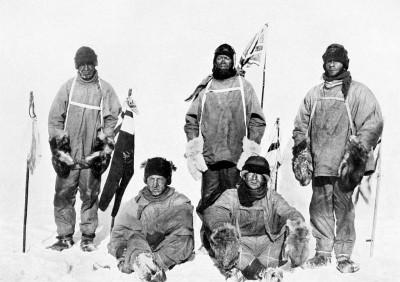 Explorers Robert Scott and others