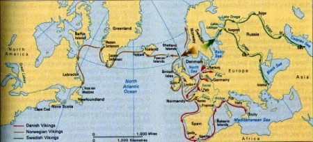 Viking range map accompanying Mia Bennett's article