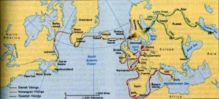 Viking range map accompanying Mia Bennett's article