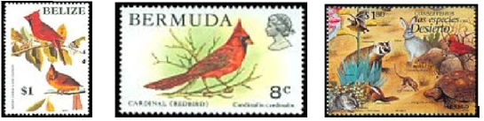Cardinal Country Stamps