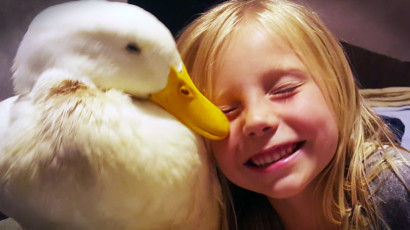Duck and Girl ©Godvine