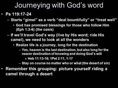 Journeying with God's Word ©slideplayer_com