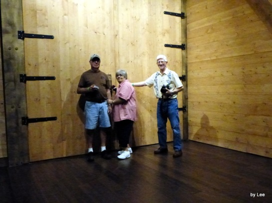 The Door at the Ark Encounter - Dan and our friends