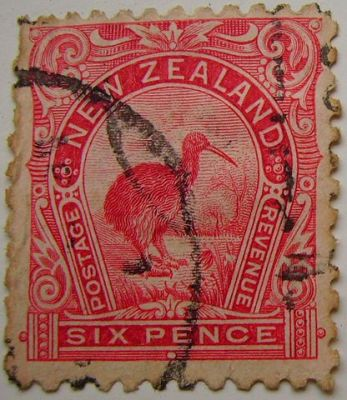 New Zealand Stamp with Kiwi ©WikiC