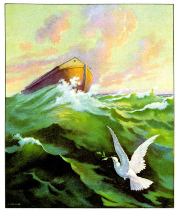Ark-with-returning-Dove.olive-HoshanaRabbah