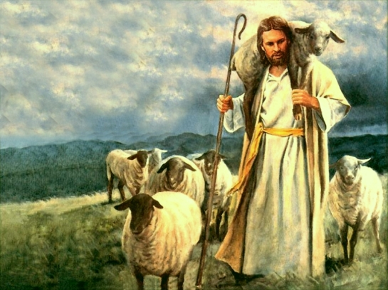 Jesus-Shepherd-with-sheep.watercolor