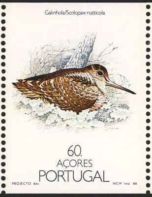 eurasianwoodcock-portugalazores-postage