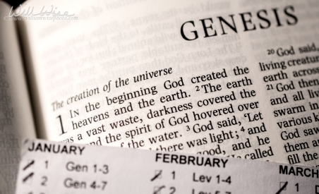 Bible Genesis 1 In the beginning by WilliamWisePhotography
